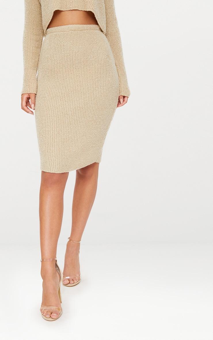 Stone Boucle Knit Skirt 2