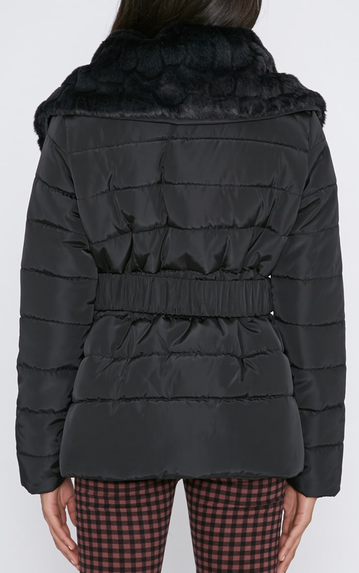 Mara Black Quilted Coat 2