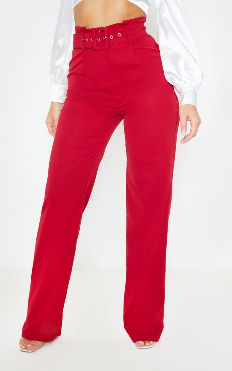 Scarlet Lightweight Woven Belted Wide Leg Trouser 2