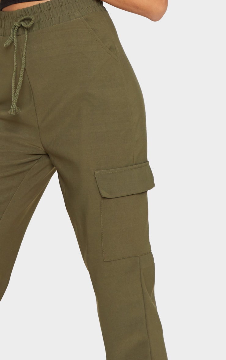 Khaki Cargo Pocket Pants 4