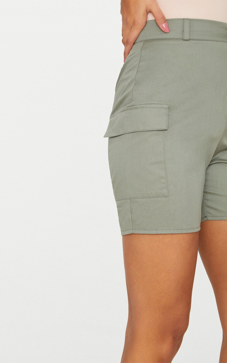 Khaki Cargo Pocket Shorts 6