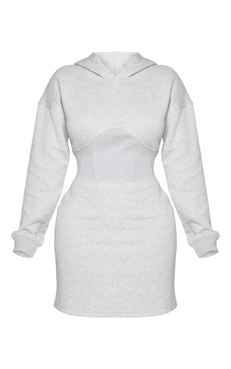 Shape Grey Corset Detail Sweatshirt Dress 5