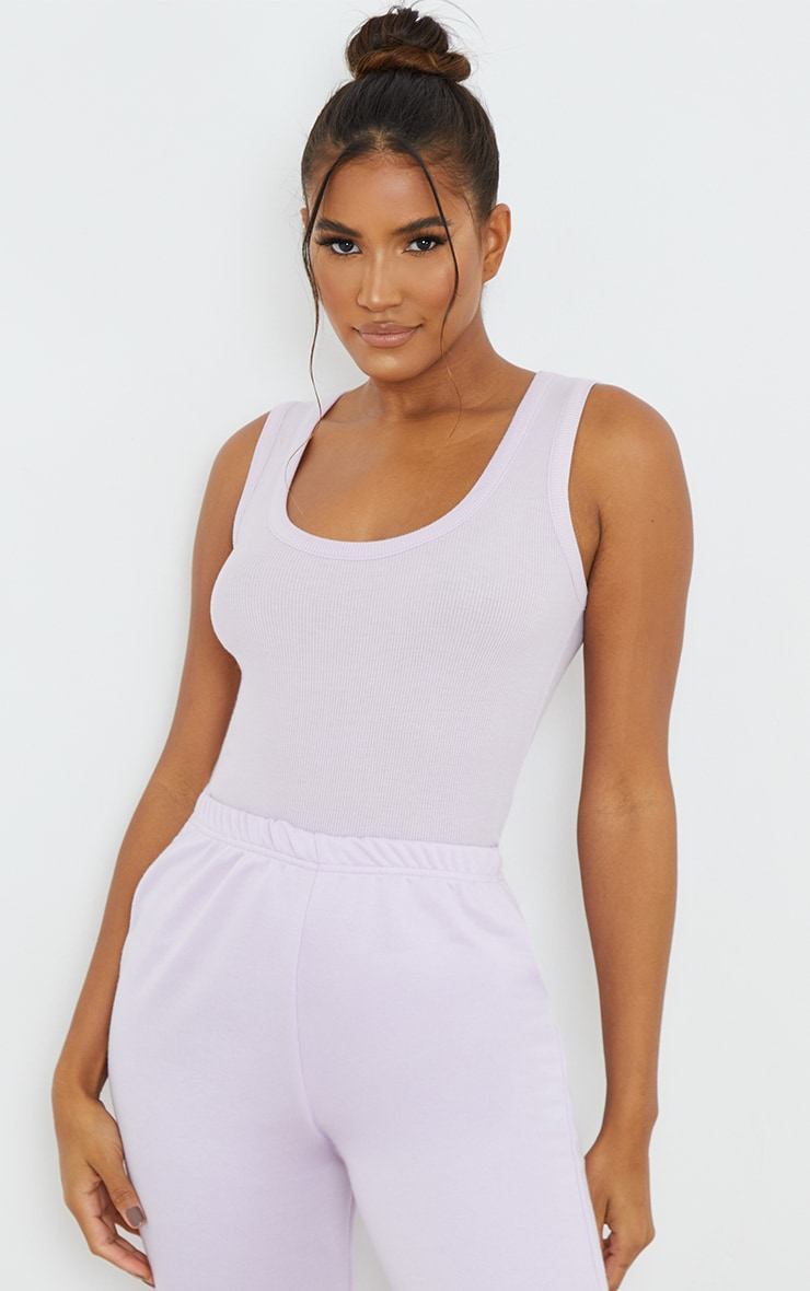 Lilac Fitted Soft Rib Vest 1