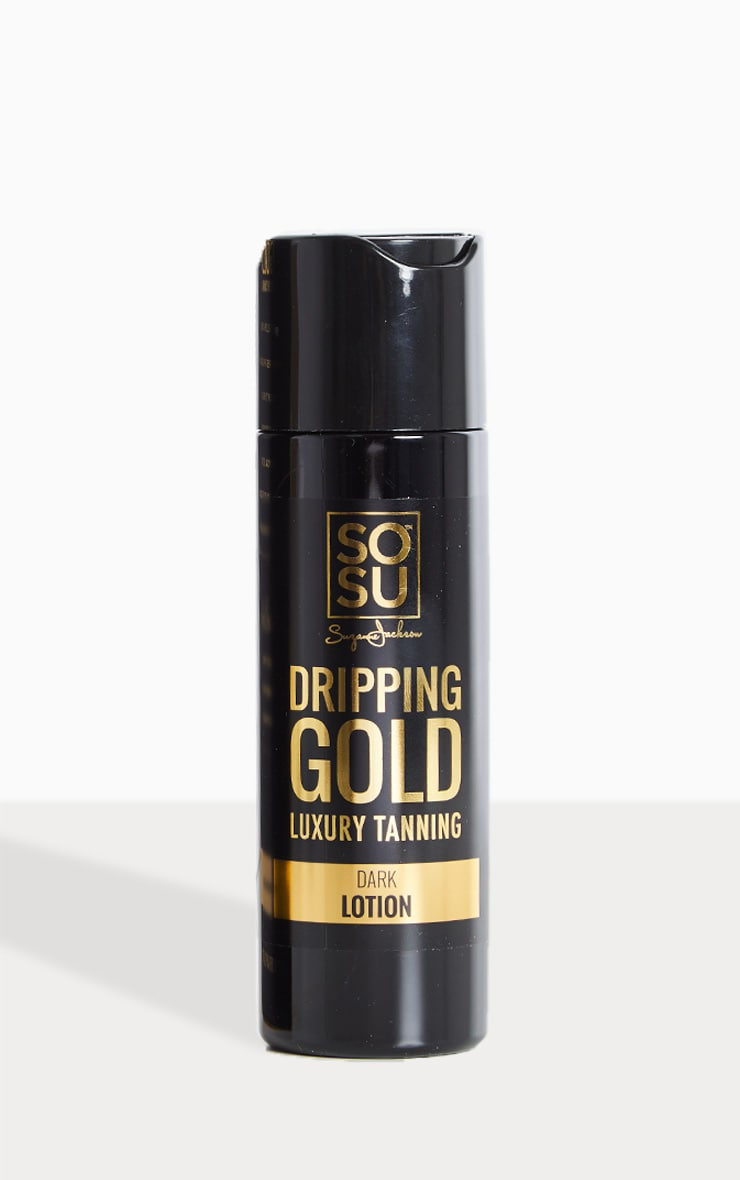 SOSU Dripping Gold Luxury Dark Tan Lotion 1