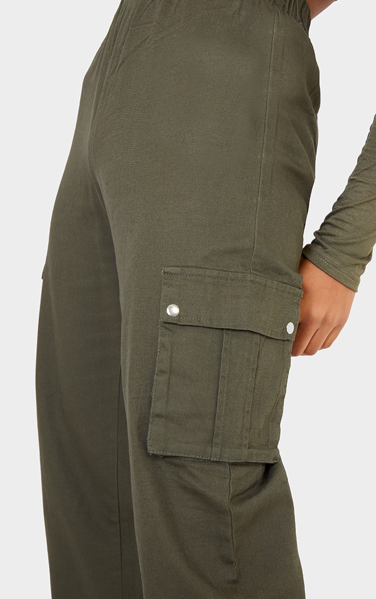 Khaki Pocket Detail Cargo Pants 4