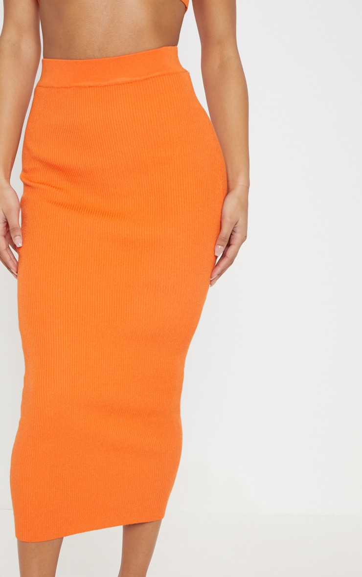 Orange Knitted Ribbed Co Ord 5