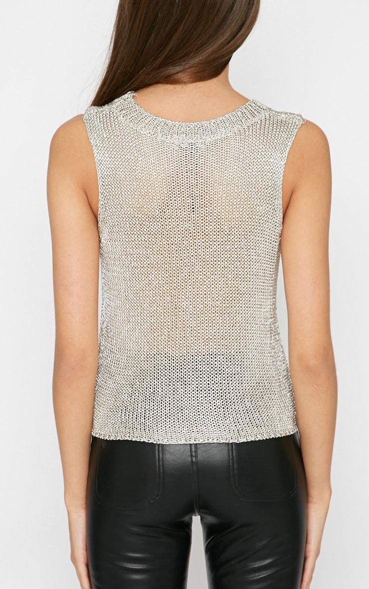 Naja Champagne Knitted Vest 2