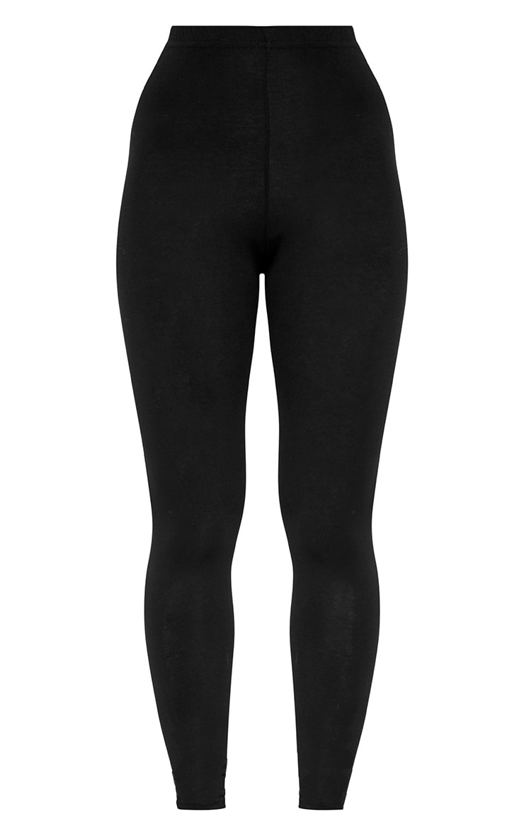 Petite Clarinda Black Basic Leggings 3