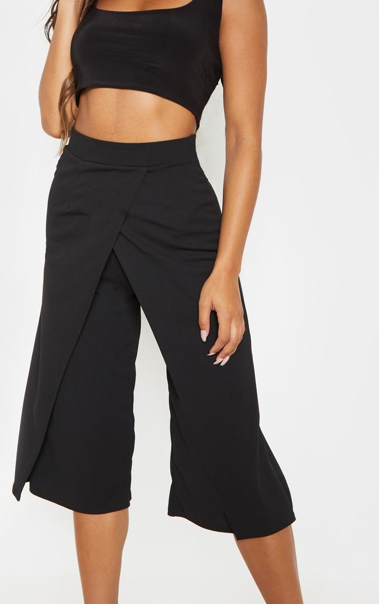 Jupe-culotte portefeuille noire 5