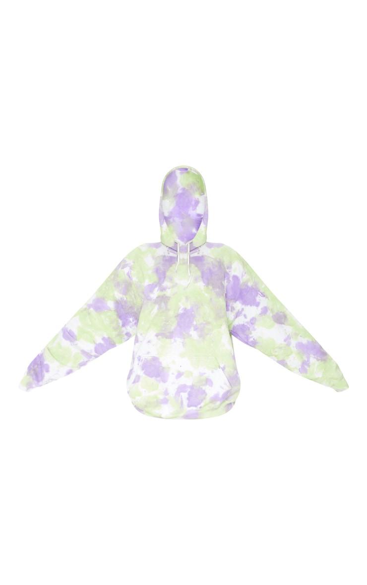 Purple Tie Dye Oversized Hoodie 5