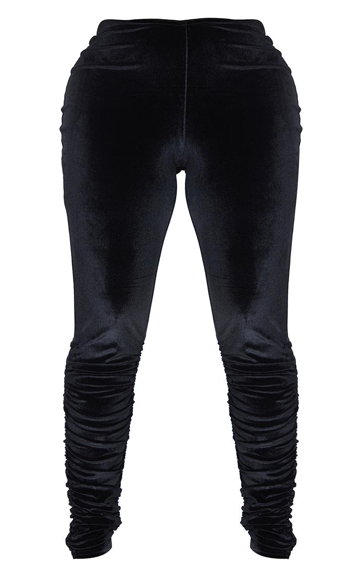 Shape - Legging en velours noir à taille en V 5