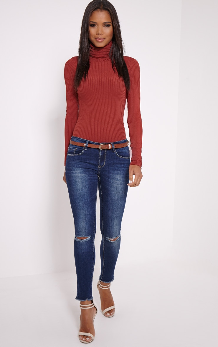 Briea Blue Ripped Skinny Jean 1