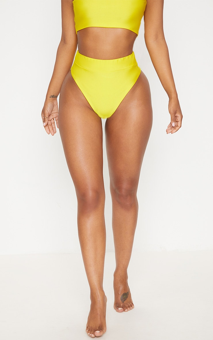Shape Yellow Extreme High Leg Bikini Bottom 2