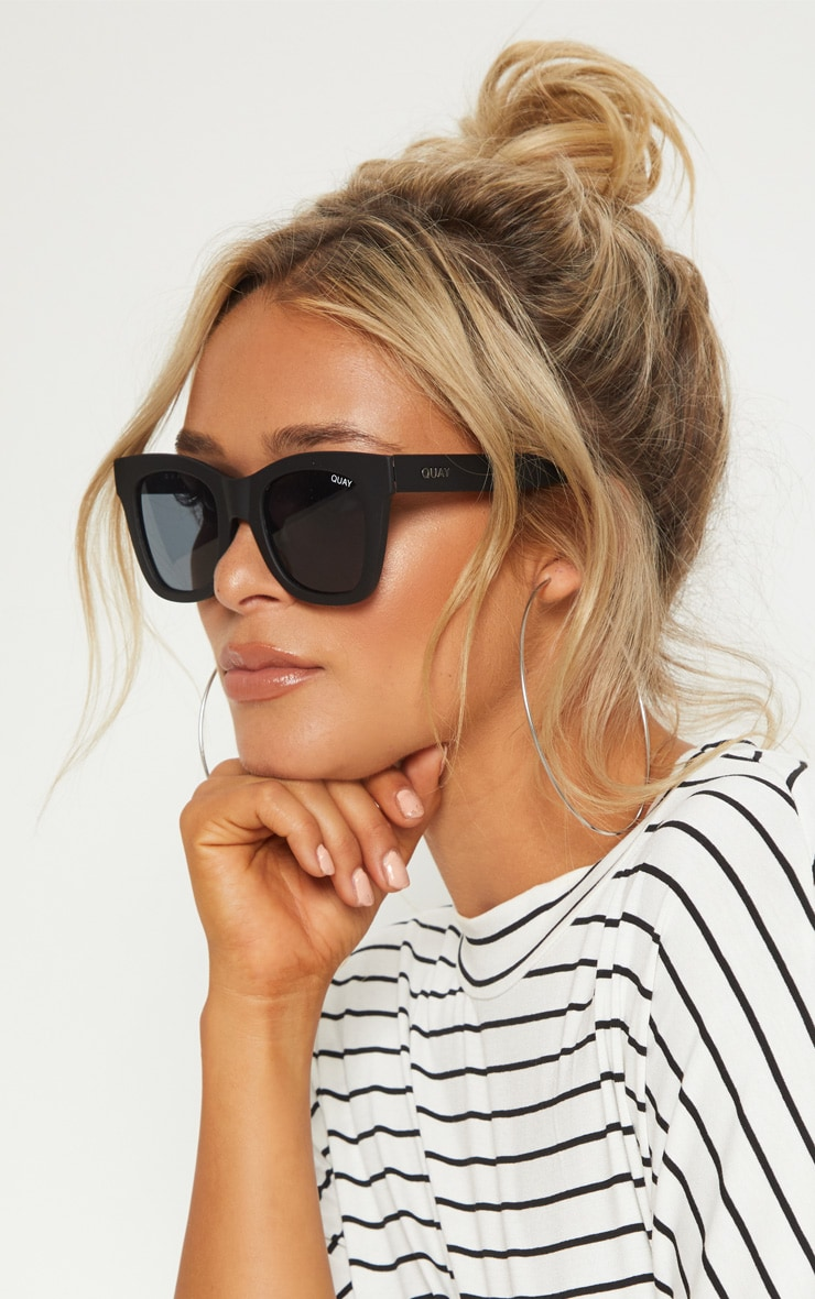 becda769ed QUAY AUSTRALIA Black After Hours Oversized Sunglasses image 1