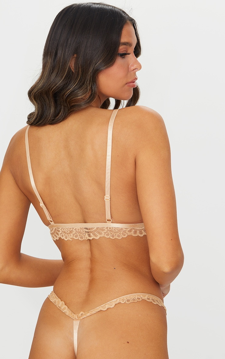 Nude Daisy Lace Harness Front Hook Bra 2