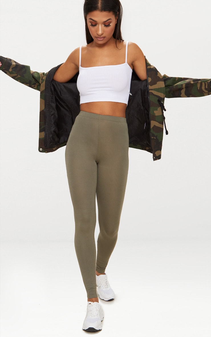 Basic Khaki Leggings