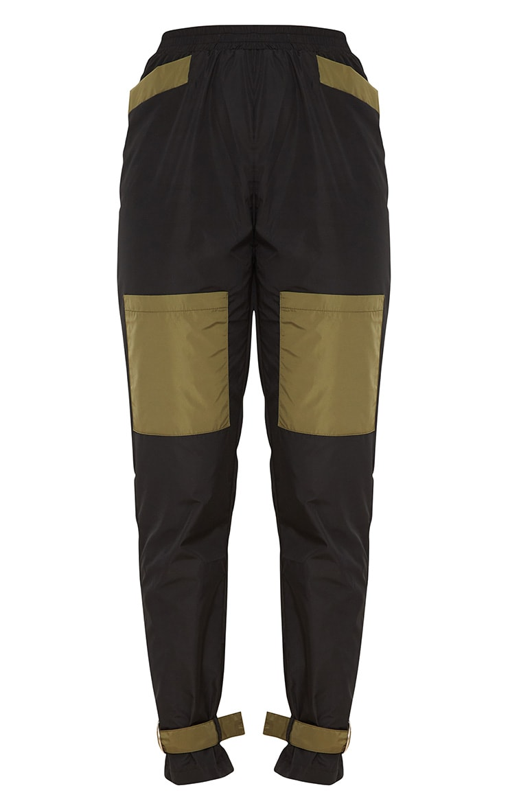 Black Contrast Pocket Shell Suit Joggers  3