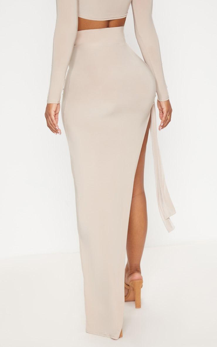 Shape Stone Slinky Tie Detail Maxi Skirt 4