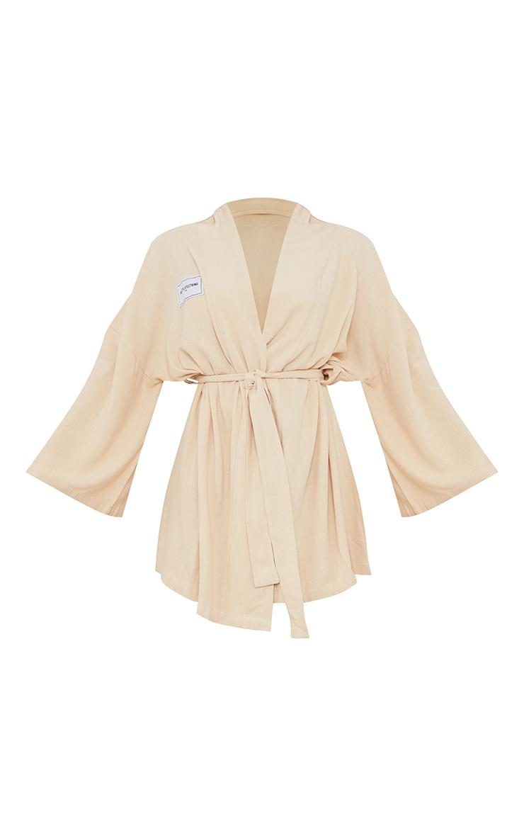 PRETTYLITTLETHING Home Stone Kimono Tie Detail Robe 5