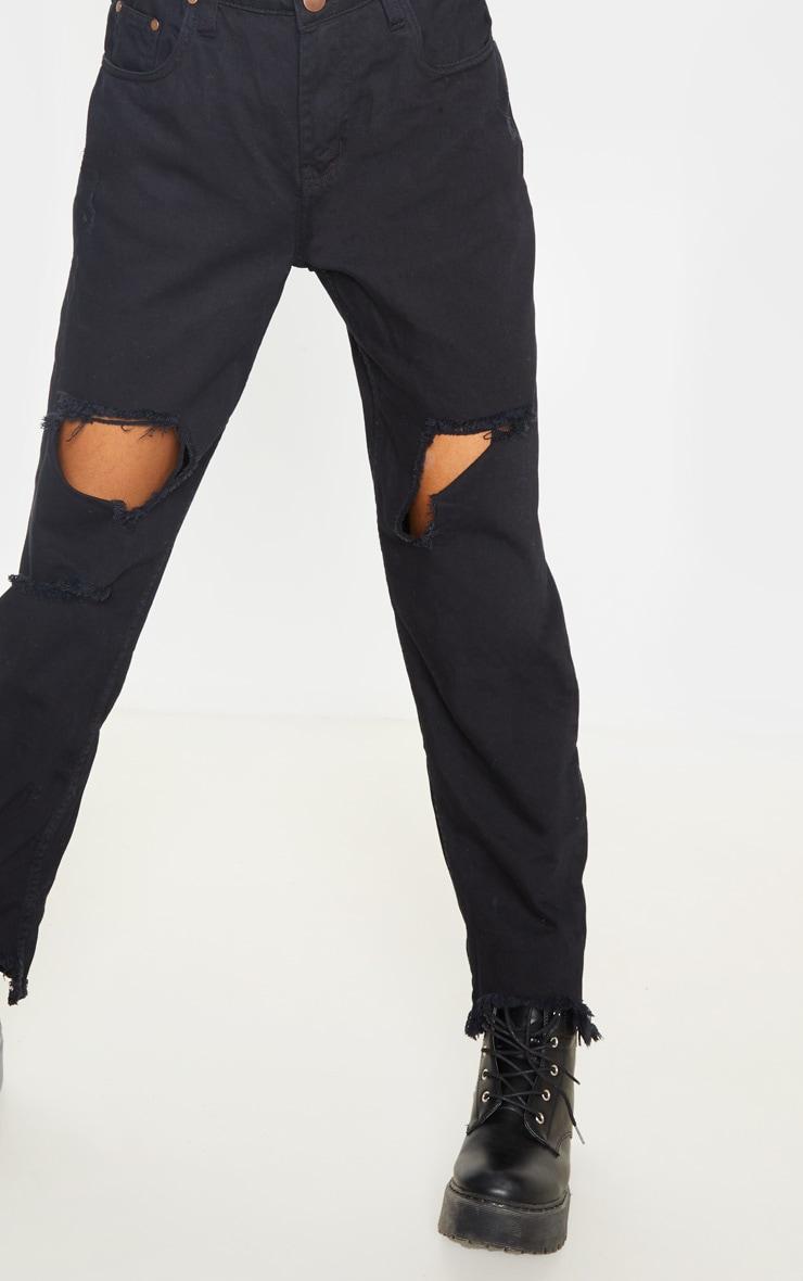 Tall - Jean noir déchiré à ourlet élimé 4