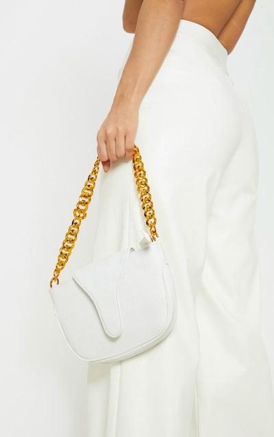 White Gold Chain Croc Mini Bag d021206cfadc0