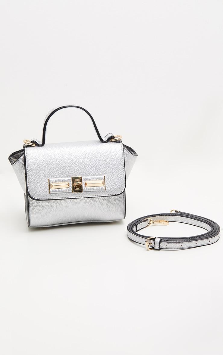 Silver Metallic Mini Handbag 2