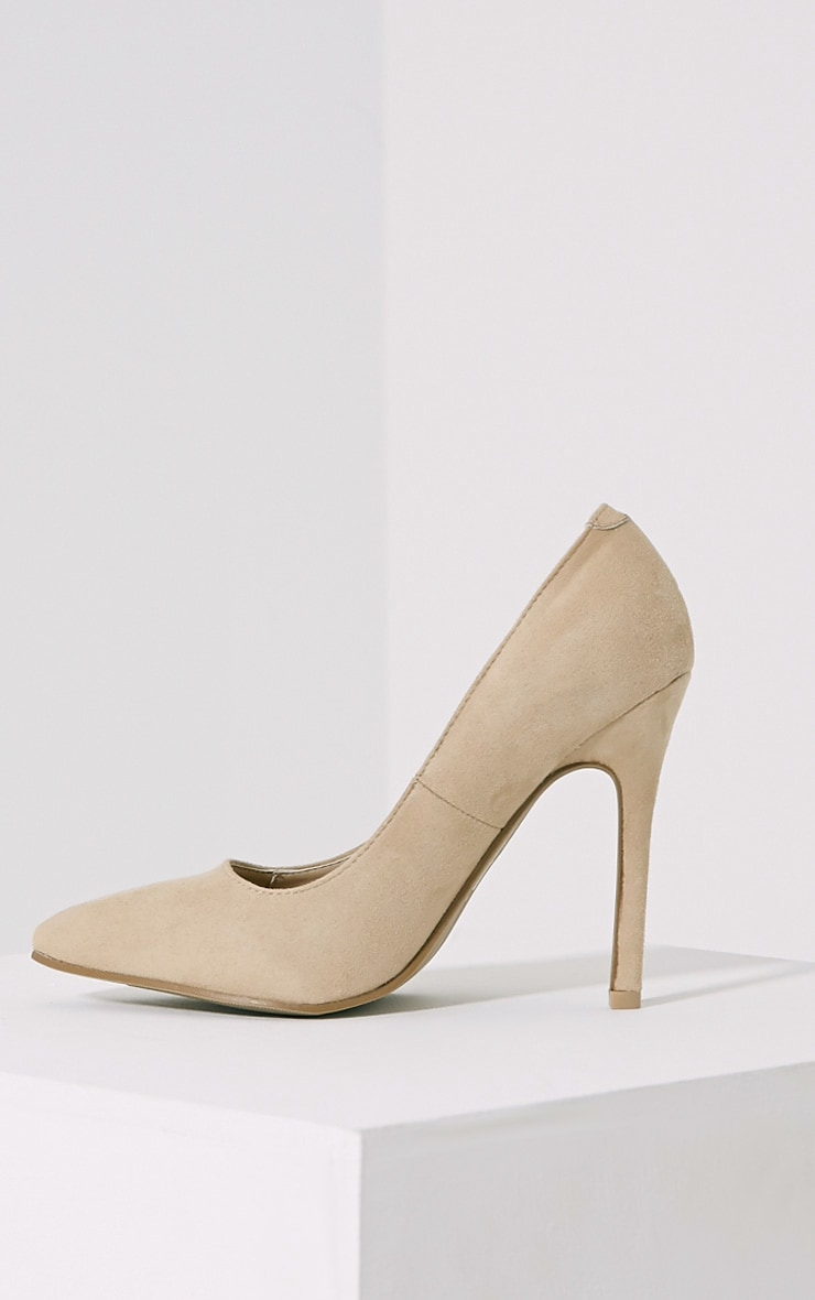 Magna Cream Suede Court Shoes 4