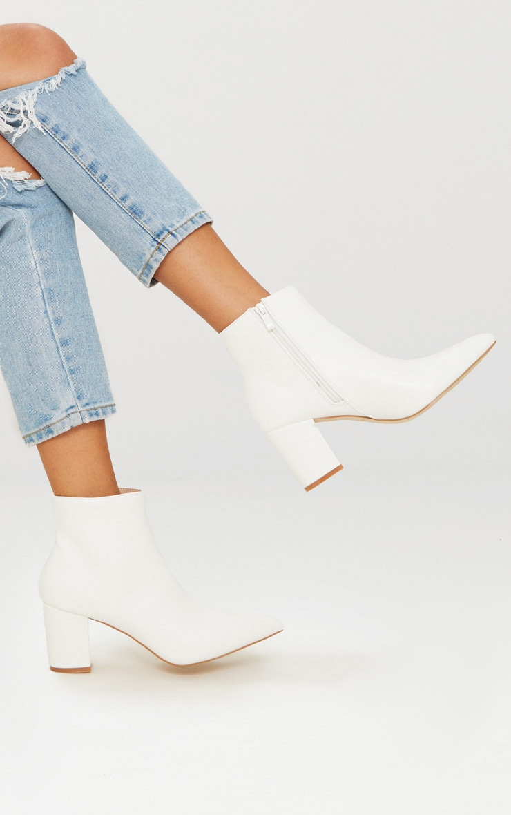 White Point Block Heel Ankle Boot 1