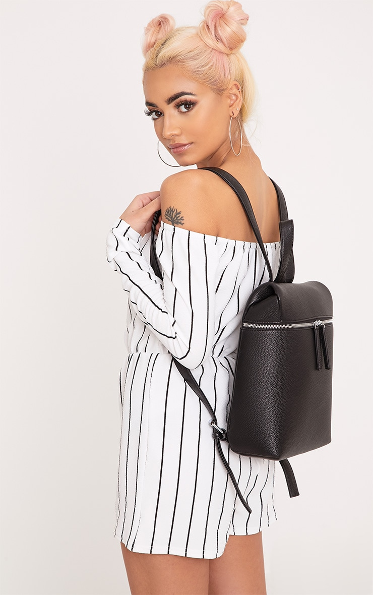Ophir Black Structured Backpack