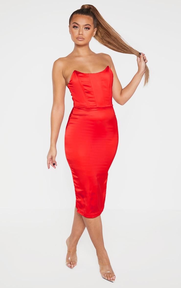 Scarlet Boning Detail Bandeau Midi Dress 4