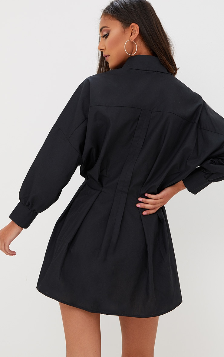 Black Ring Detail Shirt Dress 2