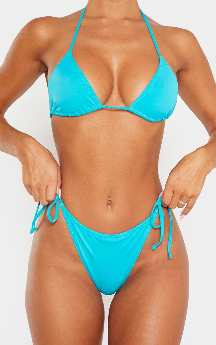 Turquoise Mix & Match Tie Side Bikini Bottoms 5