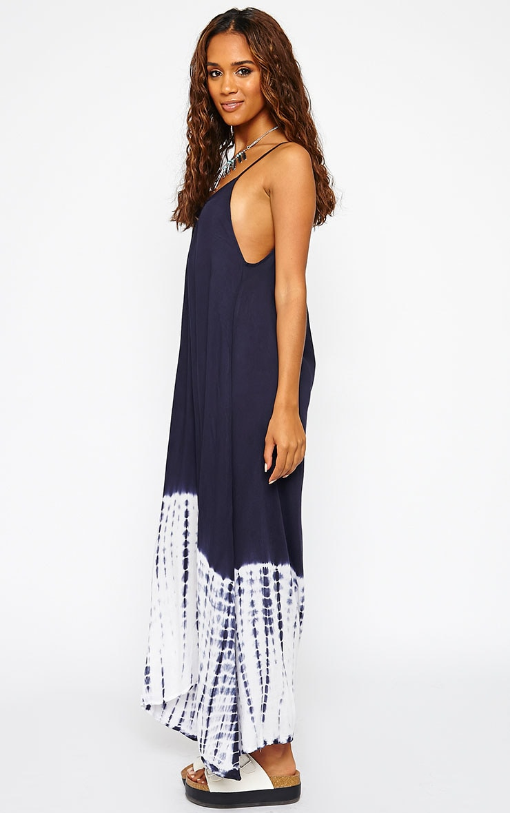 Janae Blue Tie Dye Hem Maxi Dress 4