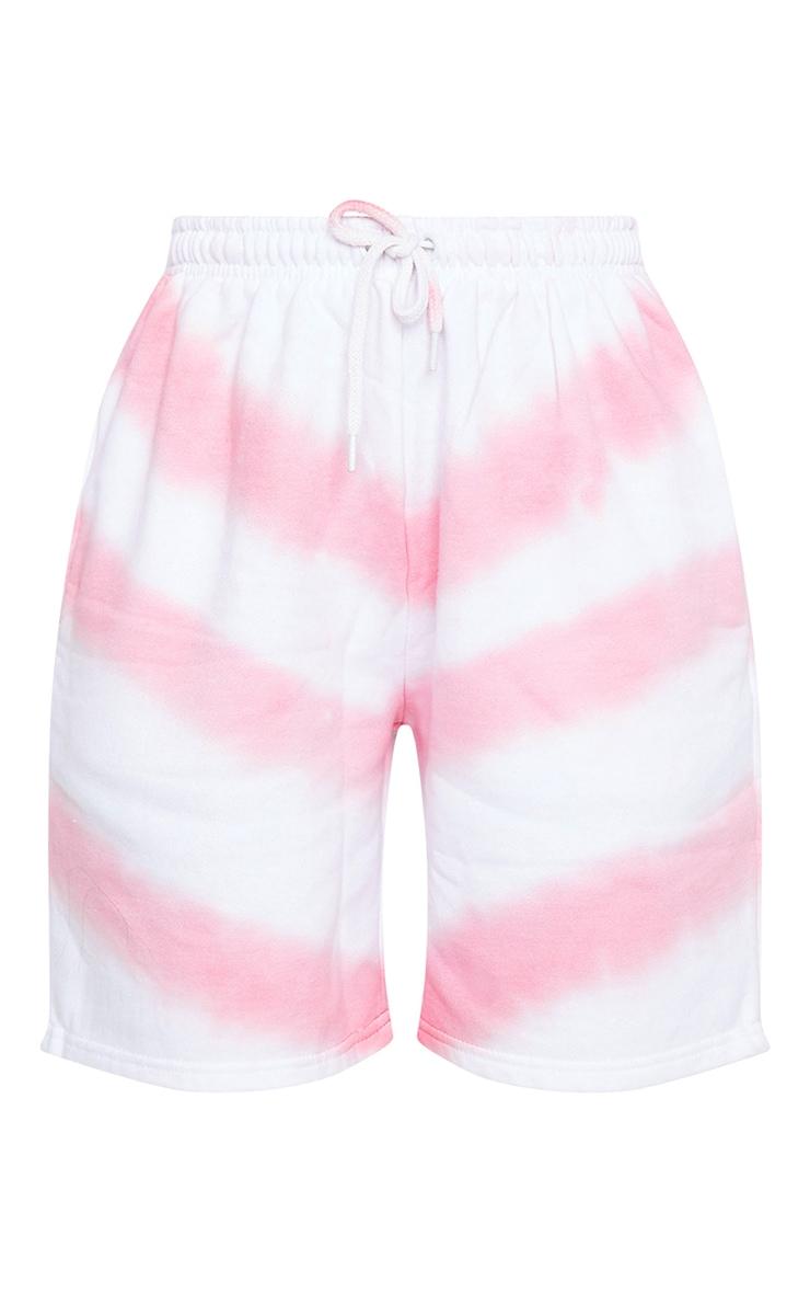 Pink Tie Dye Sweat Shorts 6