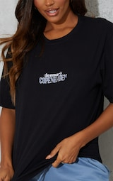Black Copenhagen Embroidered T Shirt 4