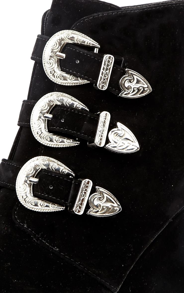 Skylar Black Suede Platform Boots 3