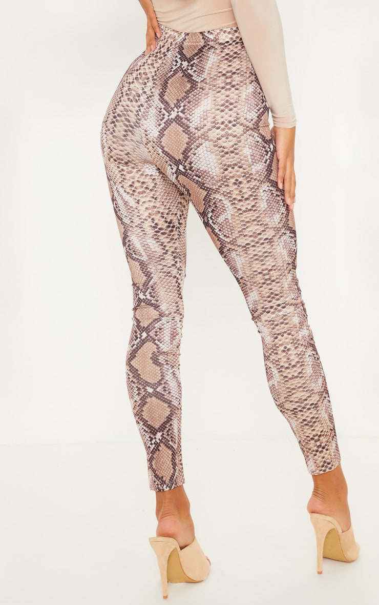 Brown Snakeskin Print Legging 4