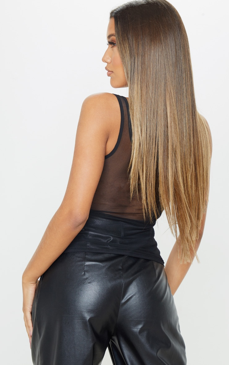 Black Mesh Studded Cami  2