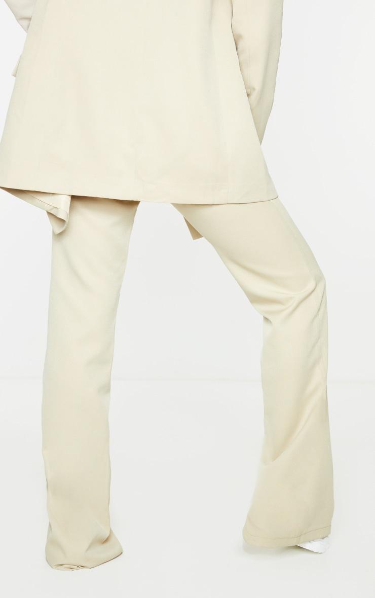 Sage Green Split Hem Wide Leg Suit Trousers 3