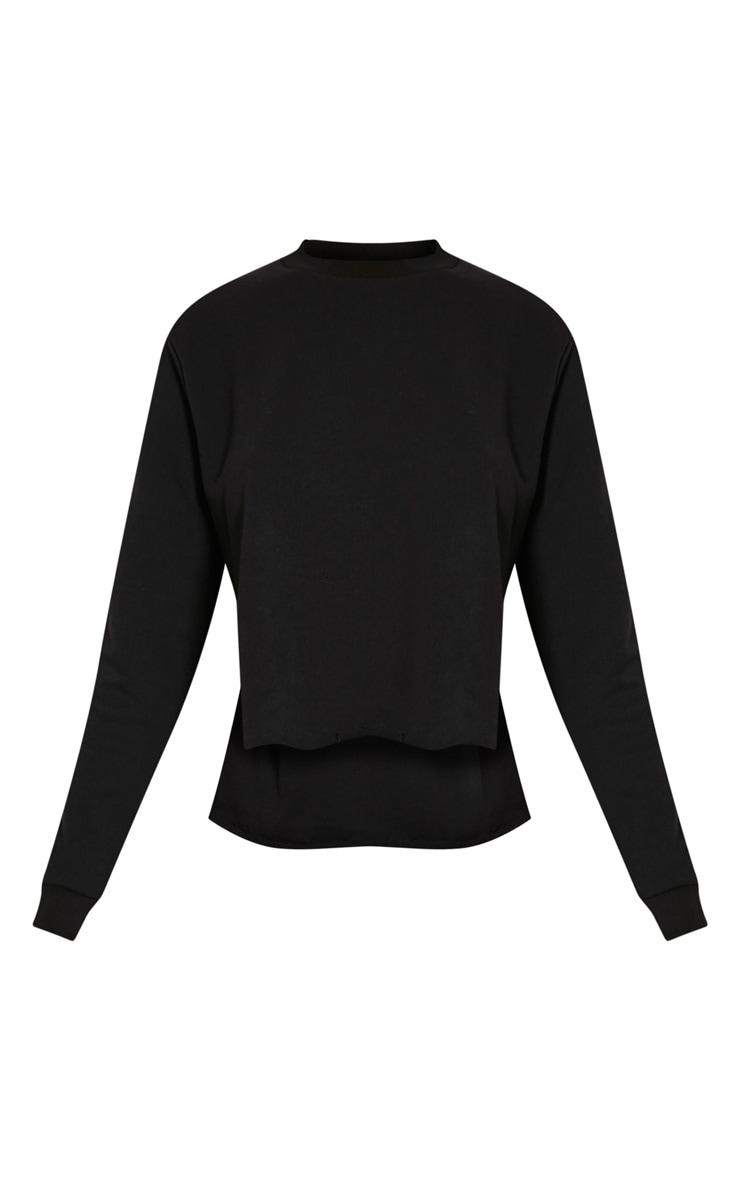 Ellia Black Split Side Sweater 3