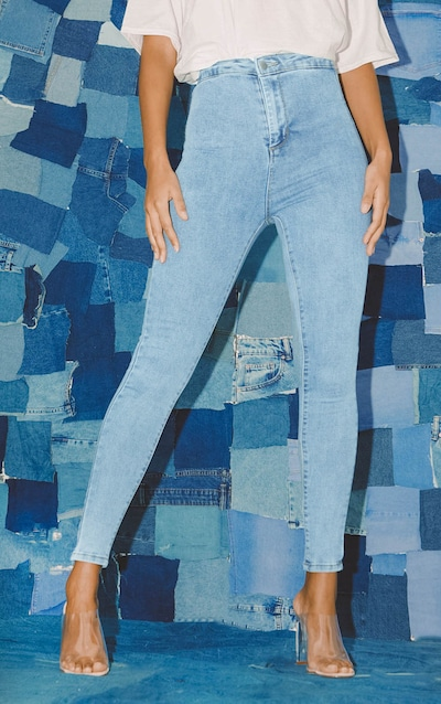 PRETTYLITTLETHING Vintage Wash Disco Skinny Jean