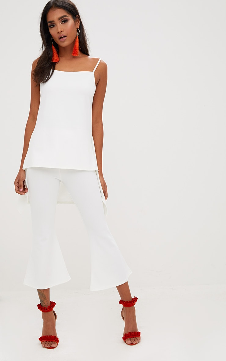 White Longline Waterfall Vest Top 4