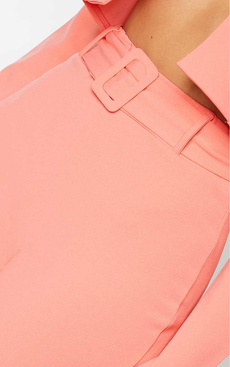 Coral High Waisted Belted Trouser 4