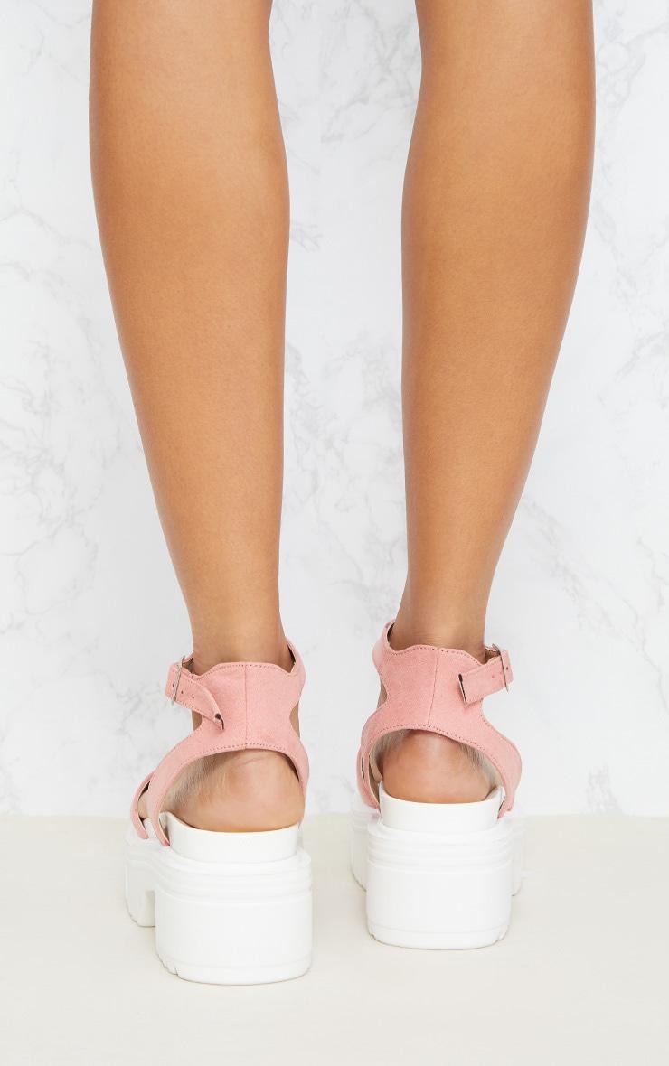 Sandales roses à grosses semelles 4
