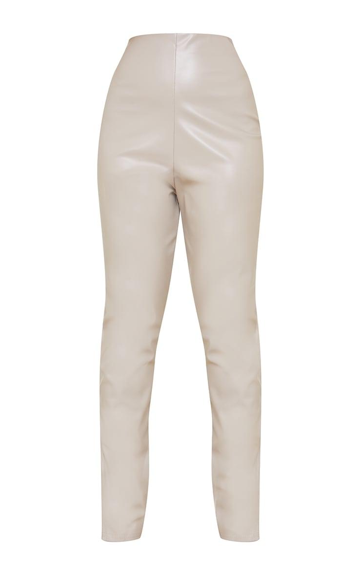 Petite Stone PU Split Hem Trousers 5
