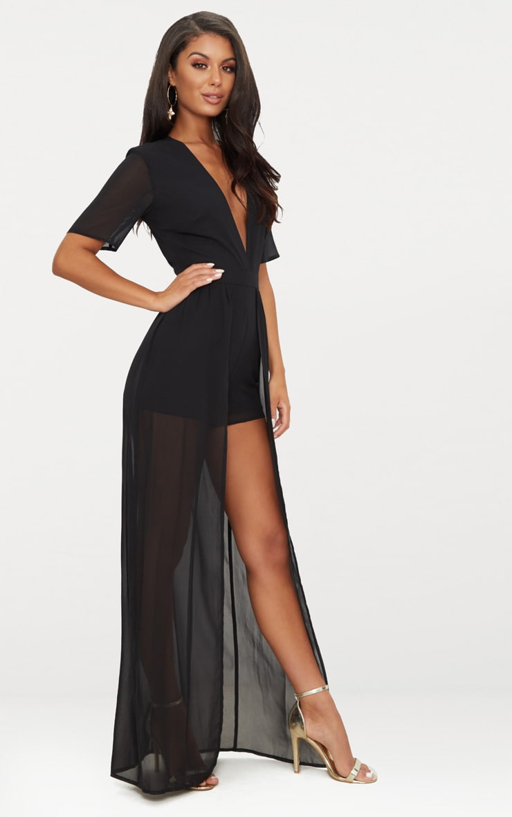 Black Maxi Overlay Playsuit 4