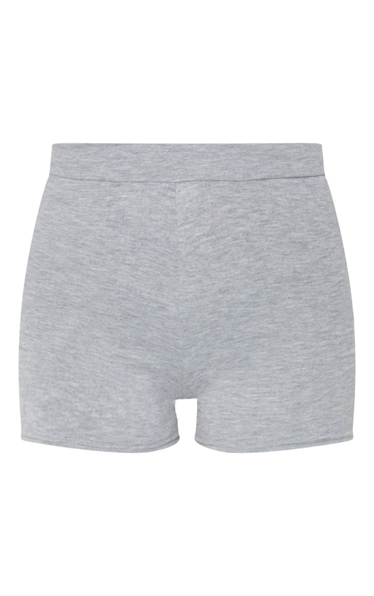 Basic Jersey Grey High Waist Hot Pants 1