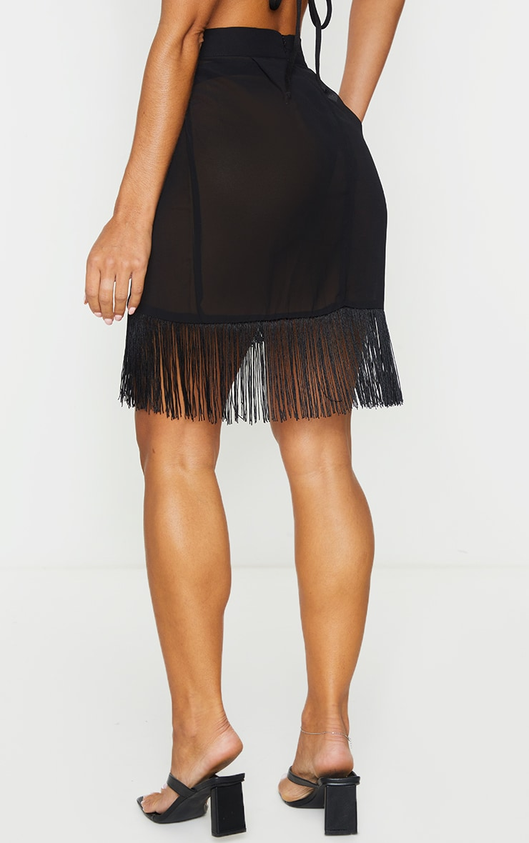 Black Tassel Beach Skirt 3