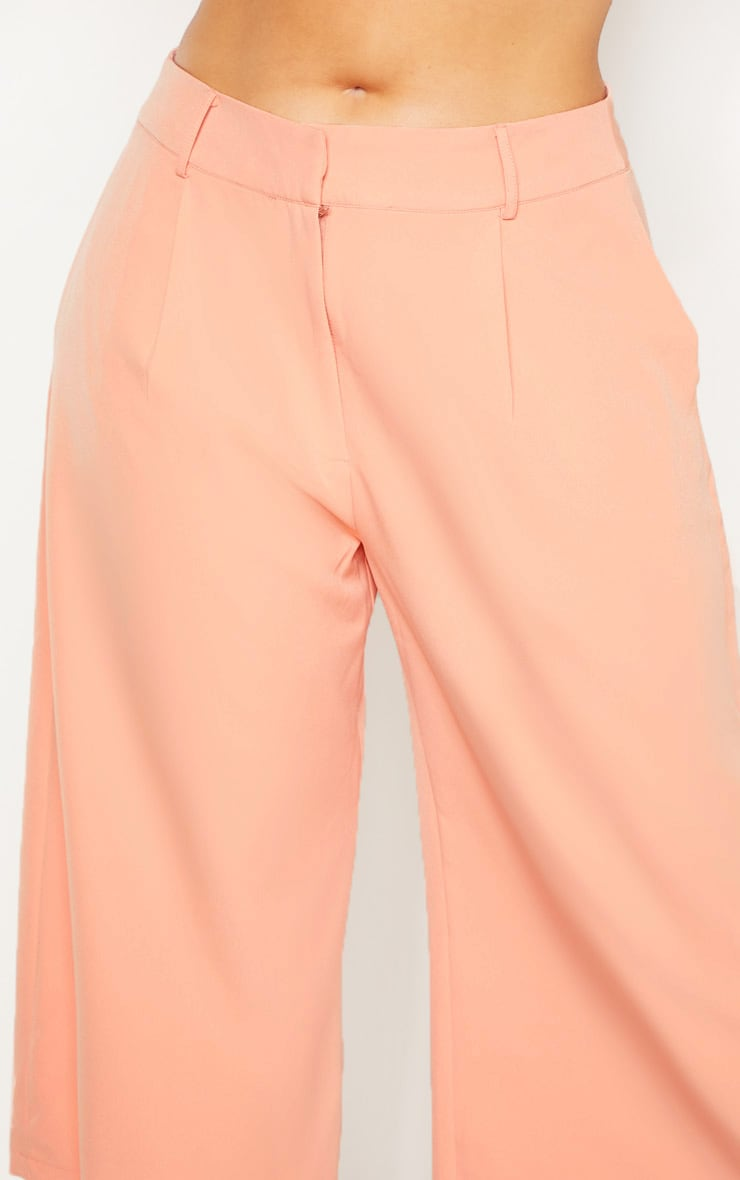 Plus Peach High Waist Culottes 5