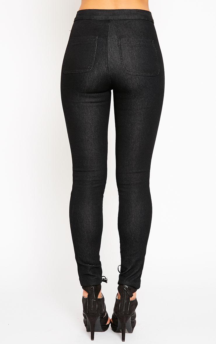 Este Black 2 Pocket High Waisted Jean 4